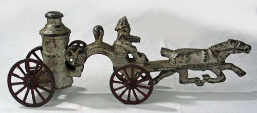 Cast Iron Horse Drawn Fire Truck