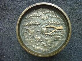 JAPANESE BRONZE MIRROR LATE 18TH CENTURY