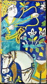 PERSIAN SAFAVID PAIR OF TILES !SPECIAL REDUCED PRICE!