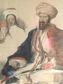 ARABIC LEBANON LITHOGRAPH