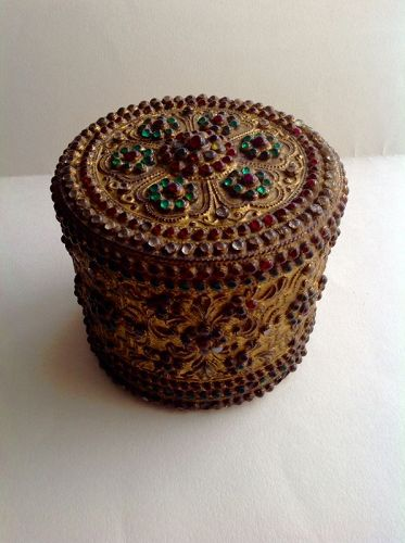 BURMESE LACQUER BETEL CONTAINER