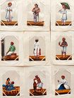 INDIAN  19th cent PAINTINGS Set of 9