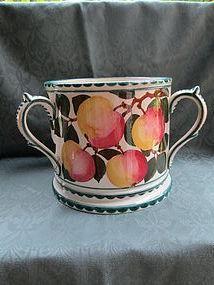 Large Wemyss fruit decorated tyg early 20th century