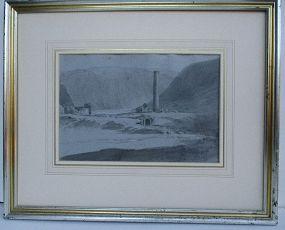 Lear, Edward attributed sketch Glendalough Ireland c. 1835