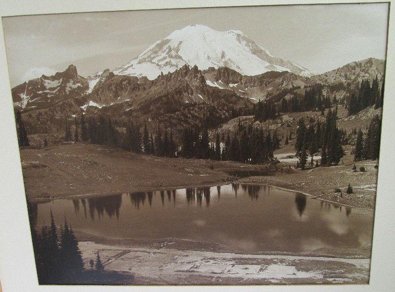 Large photo MT. RAINER � TIPSCO LAKE 20th century.