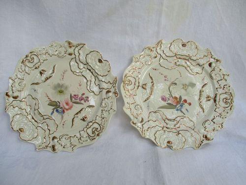 A pair of CJ Mason porcelain plates circa 1825