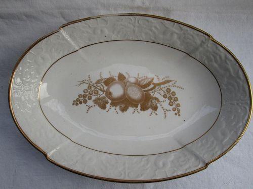 Spode bat printed oval serving dish c. 1814