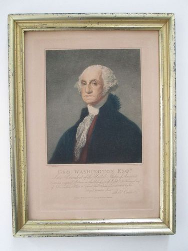Engraving of George Washington after Stuart printed in 1798