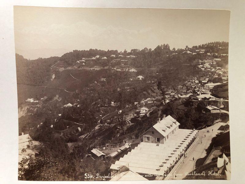 Albumen photo of Darjeeling India c.1880