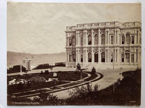 Albumen photo Beylerbeyi Palace Istanbul c. 1870 P. Sebah