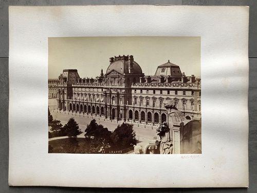Albumen photo The Louvre Paris c. 1880 A. Quintet