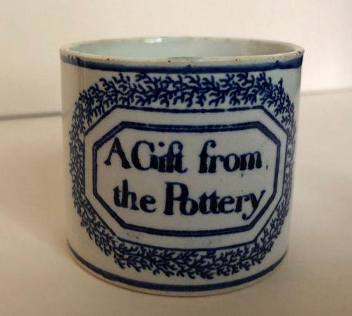 Pearlware child�s mug with inscription. English c. 1820