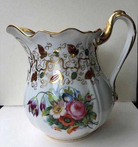 Presentation porcelain pitcher c. 1870