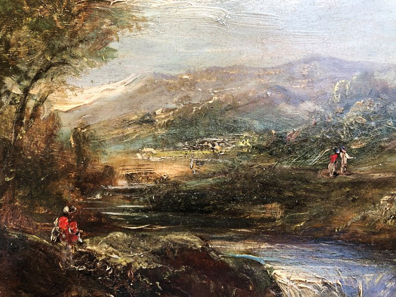 Oil on panel landscape English, early 19th century