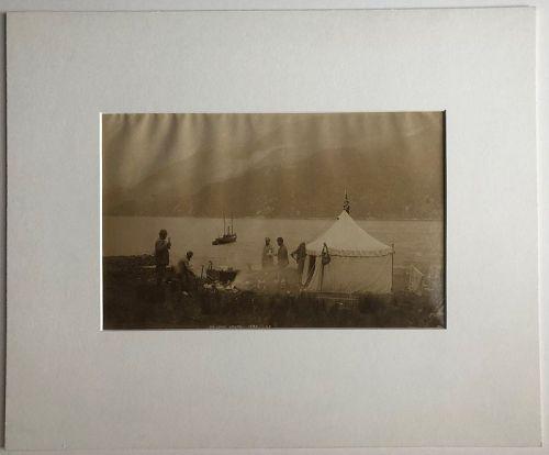 Albumen photo Loch Hourn Scotland c. 1880 J.V.