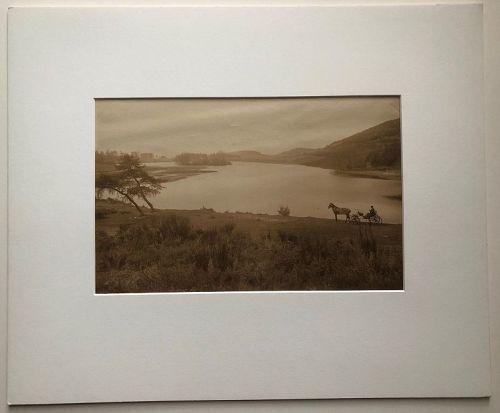 Albumen photo of Loch Killian, G.W. Wilson c. 1880