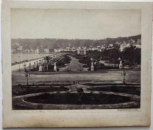 Albumen photo Naples Italy. M. Amodio c. 1880