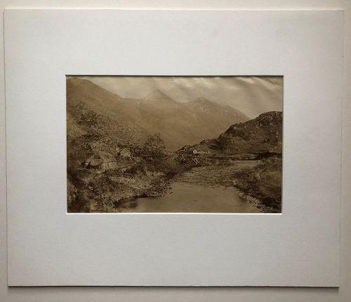 Albumen photo Scottish Highlands, Loch Duich G.W. Wilson c. 1880