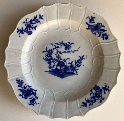 Blue and white porcelain plate Ronda pattern Tournai 19th c.