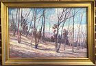 Henry Lee oil on canvas of winter hills, early 20th century