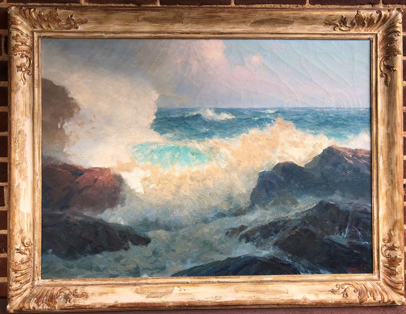 Fred Pye painting �The Breaking Wave� American 20th c.
