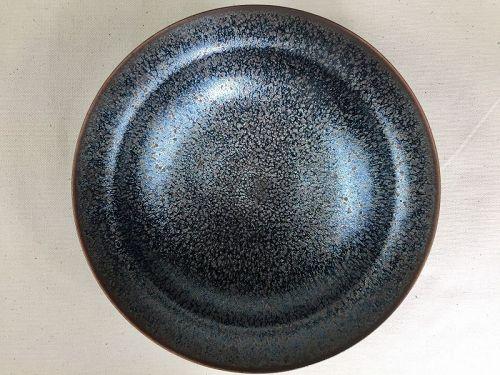 Oil Spot Jian ware vase by Takeshi Furukawa