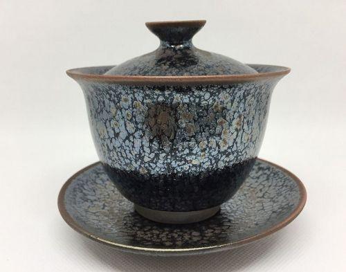 Gaiwan Oil Spot bowl by Takeshi Furukawa