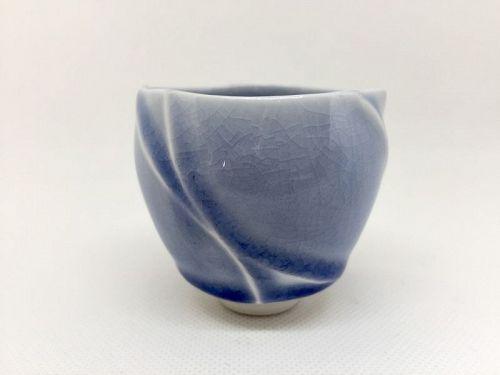 Porcelain Guinomi Cup by Shoh Araya