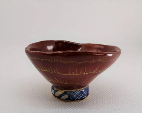 Kyo ware Guinomi cup by Kyoko Kobayashi