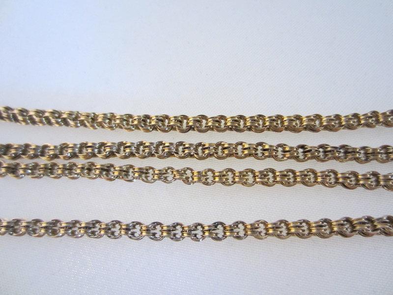 "Victorian 10k Yellow Gold 31"" Chain"