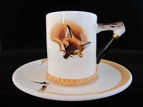 "Royal Doulton ""Reynard the Fox"" Demitasse Cup & Saucer"