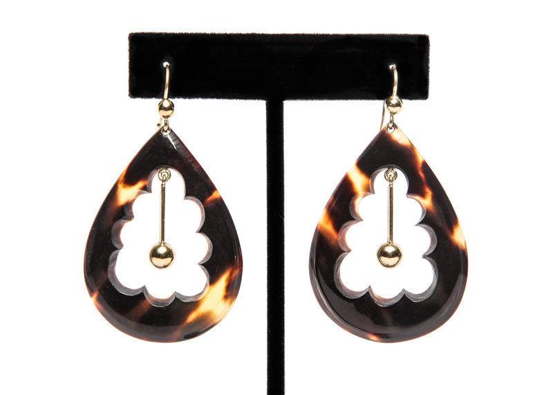 Victorian Tortoise Shell Earrings