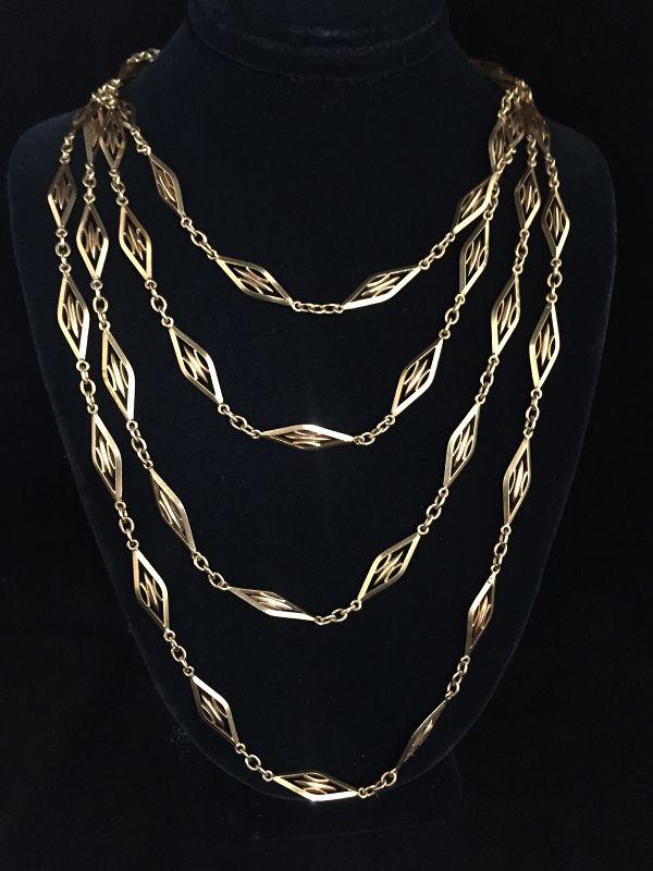 "61"" 18k French Chain"