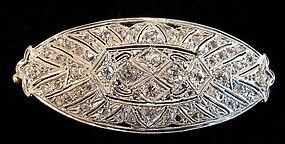 Edwardian Platinum and Gold Diamond Brooch