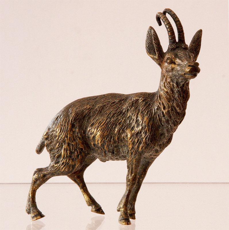 Austrian Bronze Of Goat