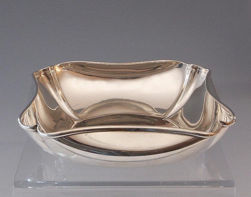 Folded Corner Sterling Bowl-Randahl Shop