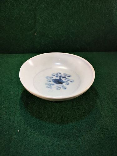 Ming style blue and white small plate (shipwreck)