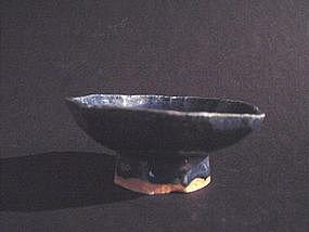 Rare Yuan Dynasty blue glazed bowl !