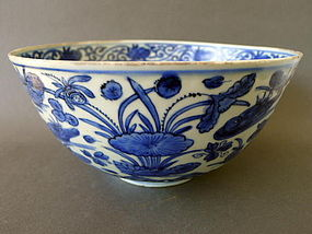 A extremely nice large Ming Wanli Duck´s and Lotus bowl