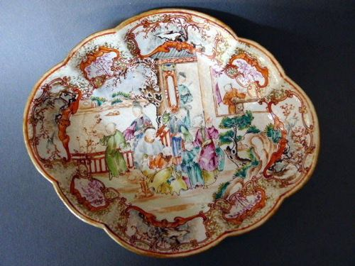 A richly decorated Qianlong Period Famille Rose  Tray