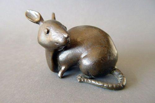 """A """"Castiglione inspired"""" Qianlong period bronze rat"""