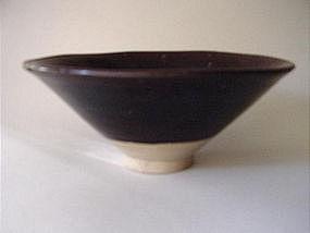 Big Yuan Dynasty brown glazed bowl !