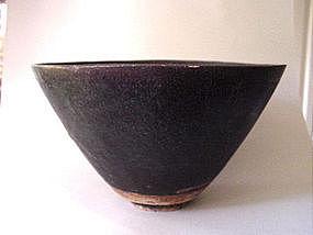 Very big Song - Yuan dark brown glazed bowl !