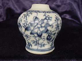 Qing dynasty blue and white jarlet !