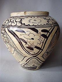 Large Song - Yuan Dy. Cizhou painted jar !