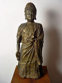 A large Ming Dynasty Bronze Buddha