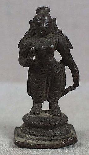19c Indian bronze nude BHUDEVI
