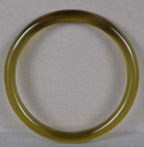 19c Chinese Peking glass citrine bangle BRACELET