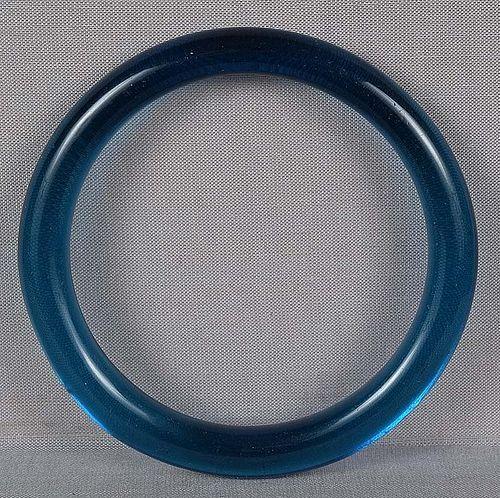 19c Chinese Peking glass aquamarine bangle BRACELET
