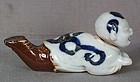 19c Japanese porcelain HIRADO BOY nodder BRUSH REST